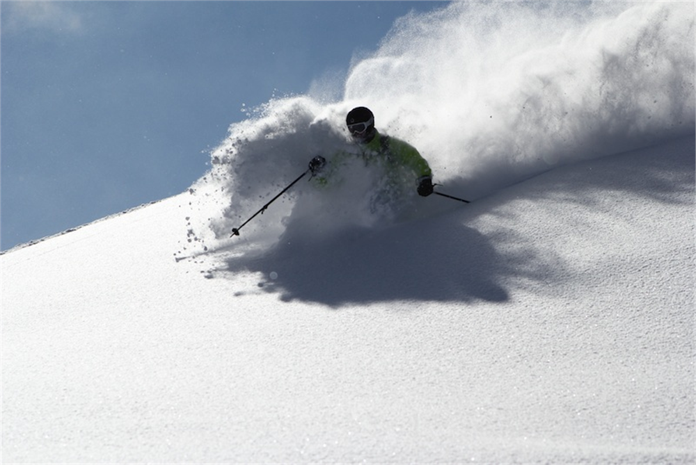 Max Blood enjoying the February powder in Meribel!